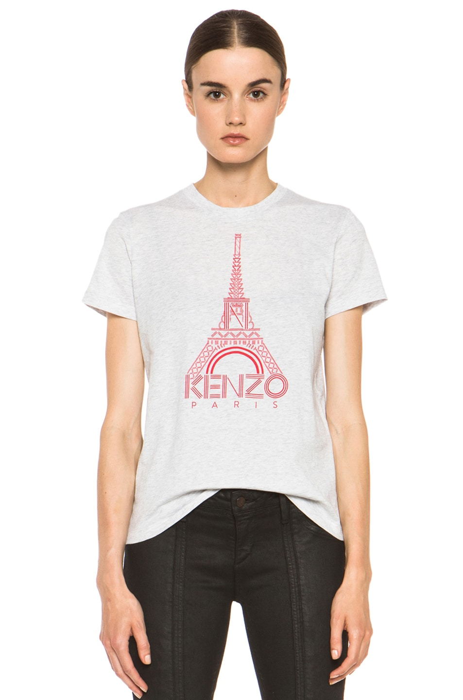 Image 1 of KENZO Eiffel Tower T Shirt in Greece Clair