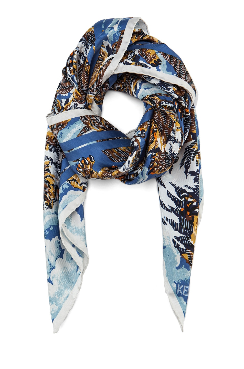 Nice Kenzo Tiger patterned scarf Cheap Discount Authentic QLAjguSik2