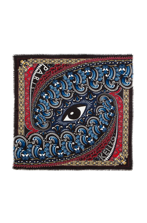 Image 1 of KENZO Wool Scarf in Blue Multi