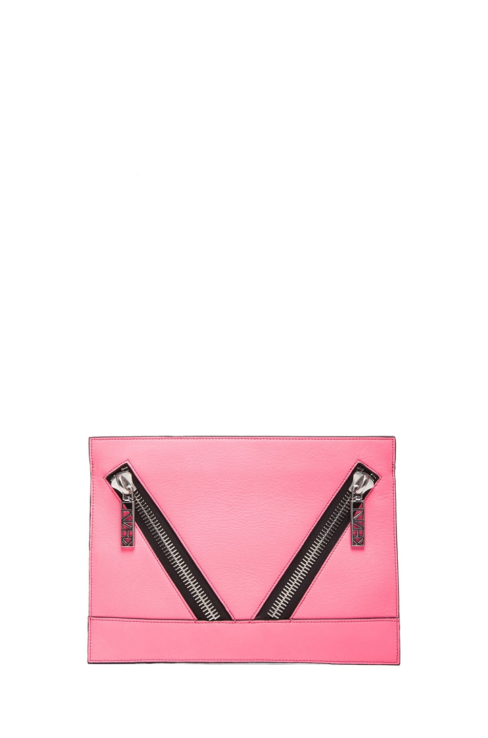 Image 1 of KENZO Large Kalifornia Clutch in Fluorescent Pink