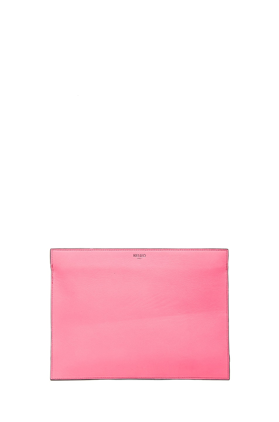 Image 2 of KENZO Large Kalifornia Clutch in Fluorescent Pink