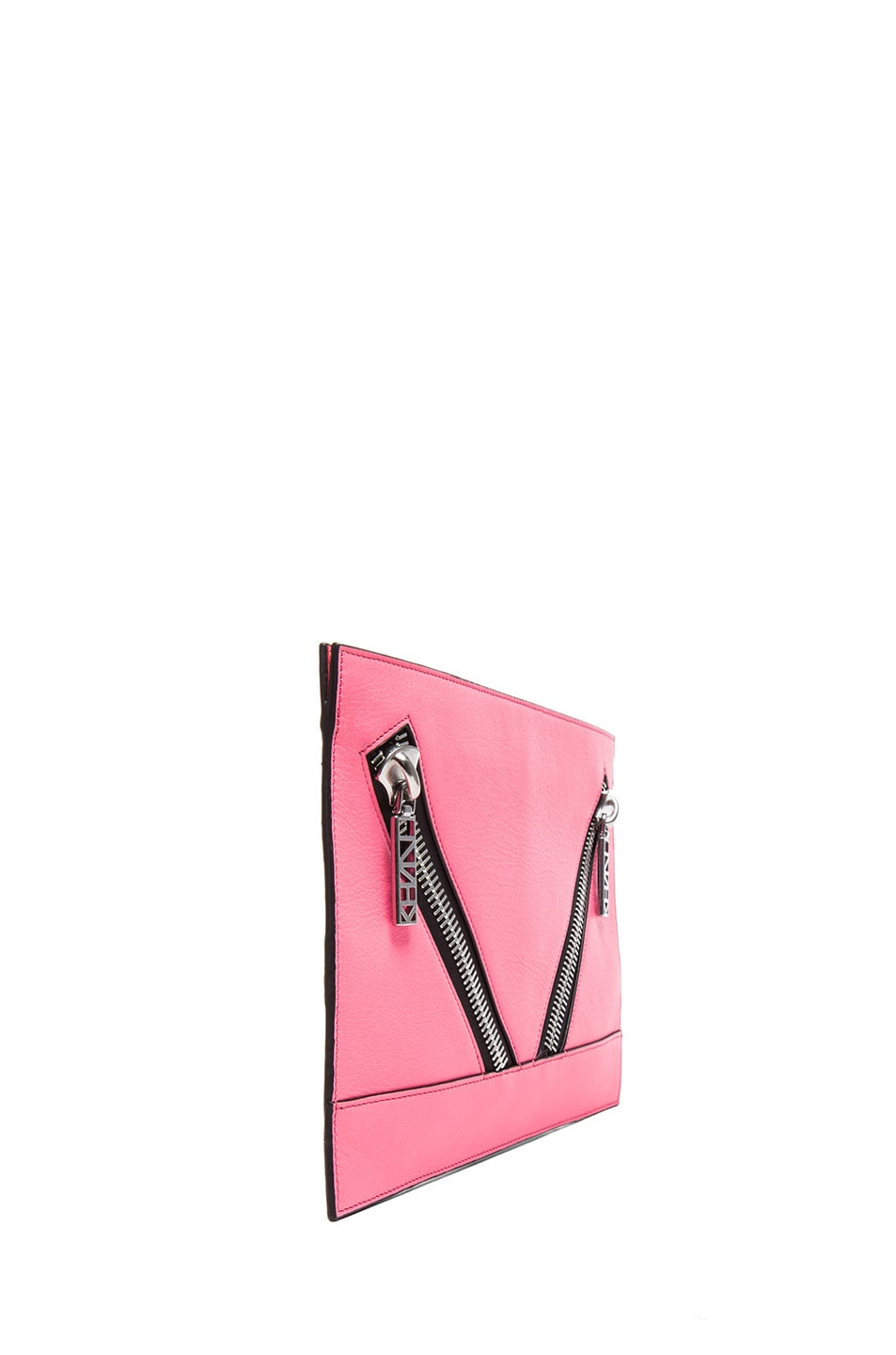 Image 3 of KENZO Large Kalifornia Clutch in Fluorescent Pink