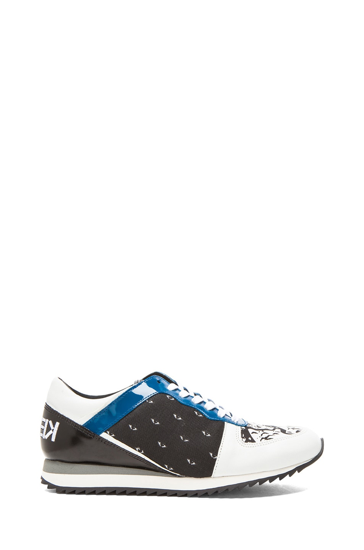 Image 1 of KENZO Eye Jacquard Sneakers in Black & White