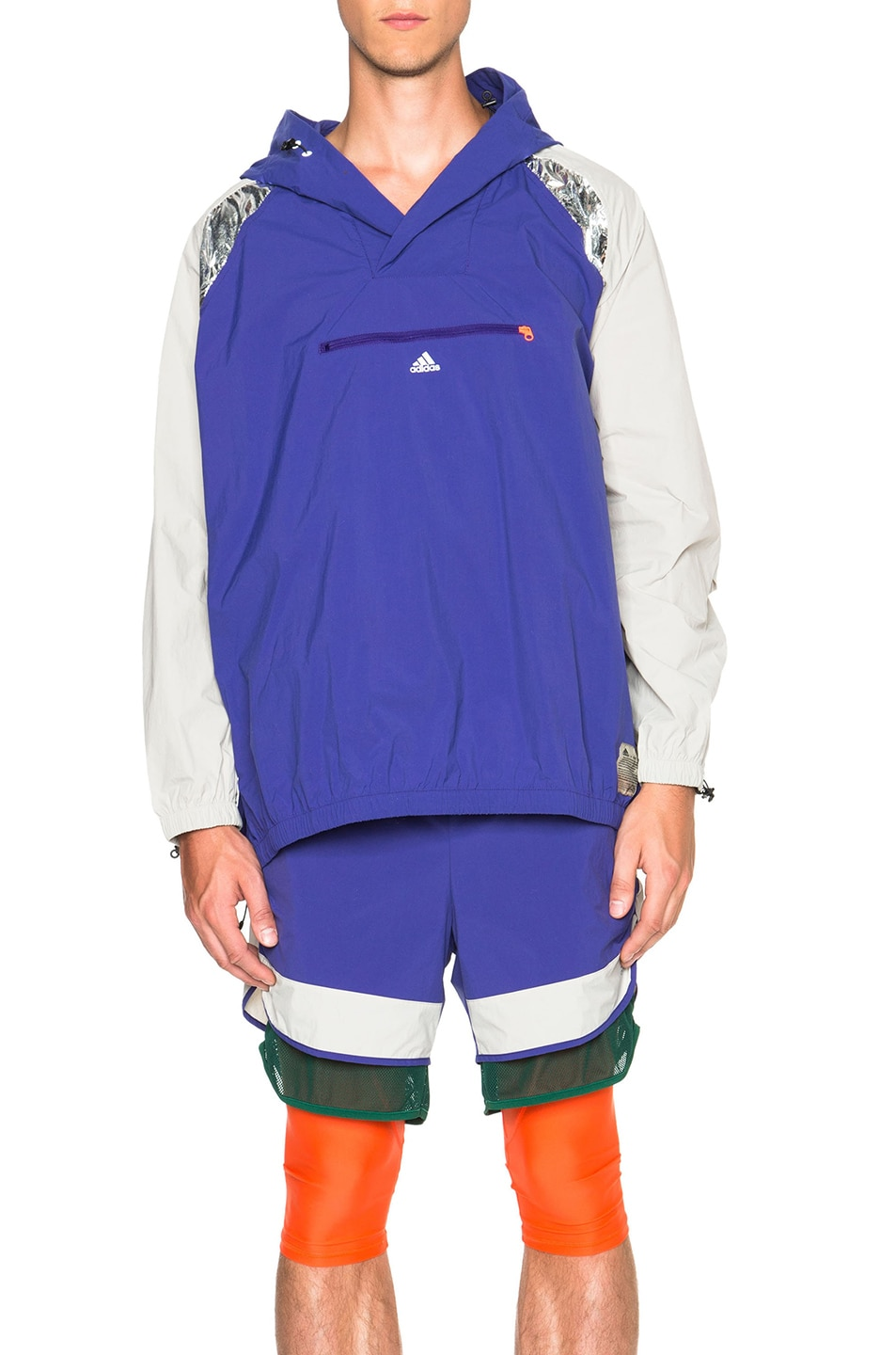 Image 1 of Adidas x kolor Anorak Jacket in Collegiate Purple & Clear Granite