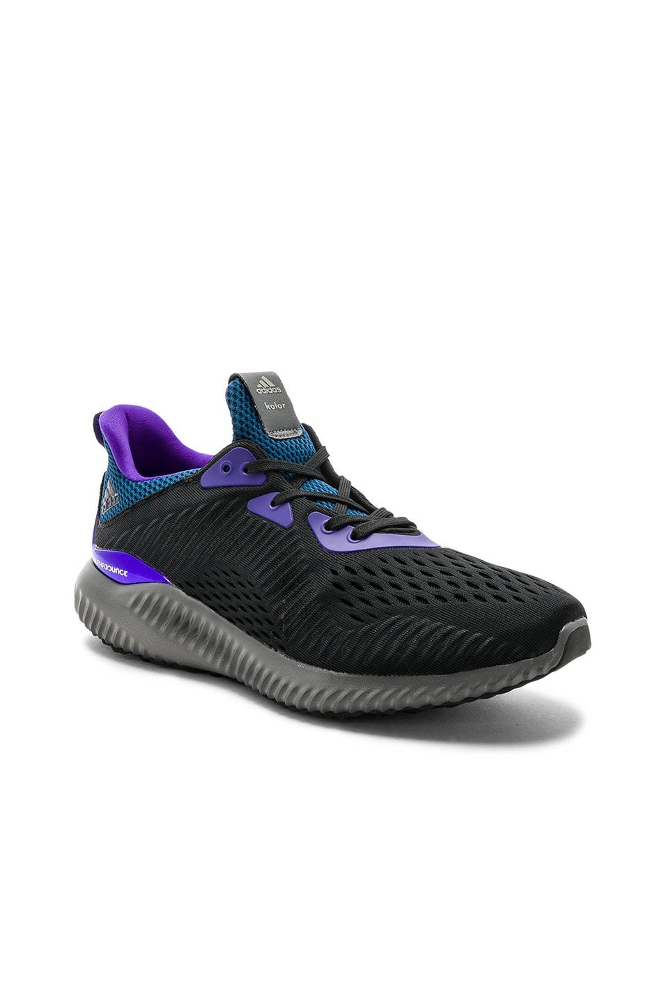 819fd8ce826a5 Image 1 of kolor x Adidas alphabounce 1 KOLOR in Core Black   Grey Five