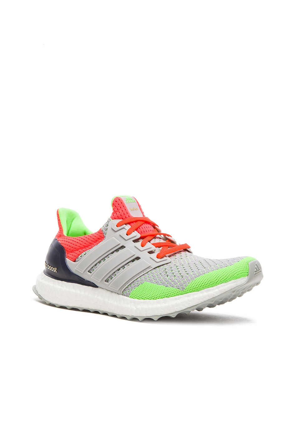 4addd4ef8952b Image 1 of Adidas x kolor Ultra Boost Shoes in Light Grey   Solar Orange
