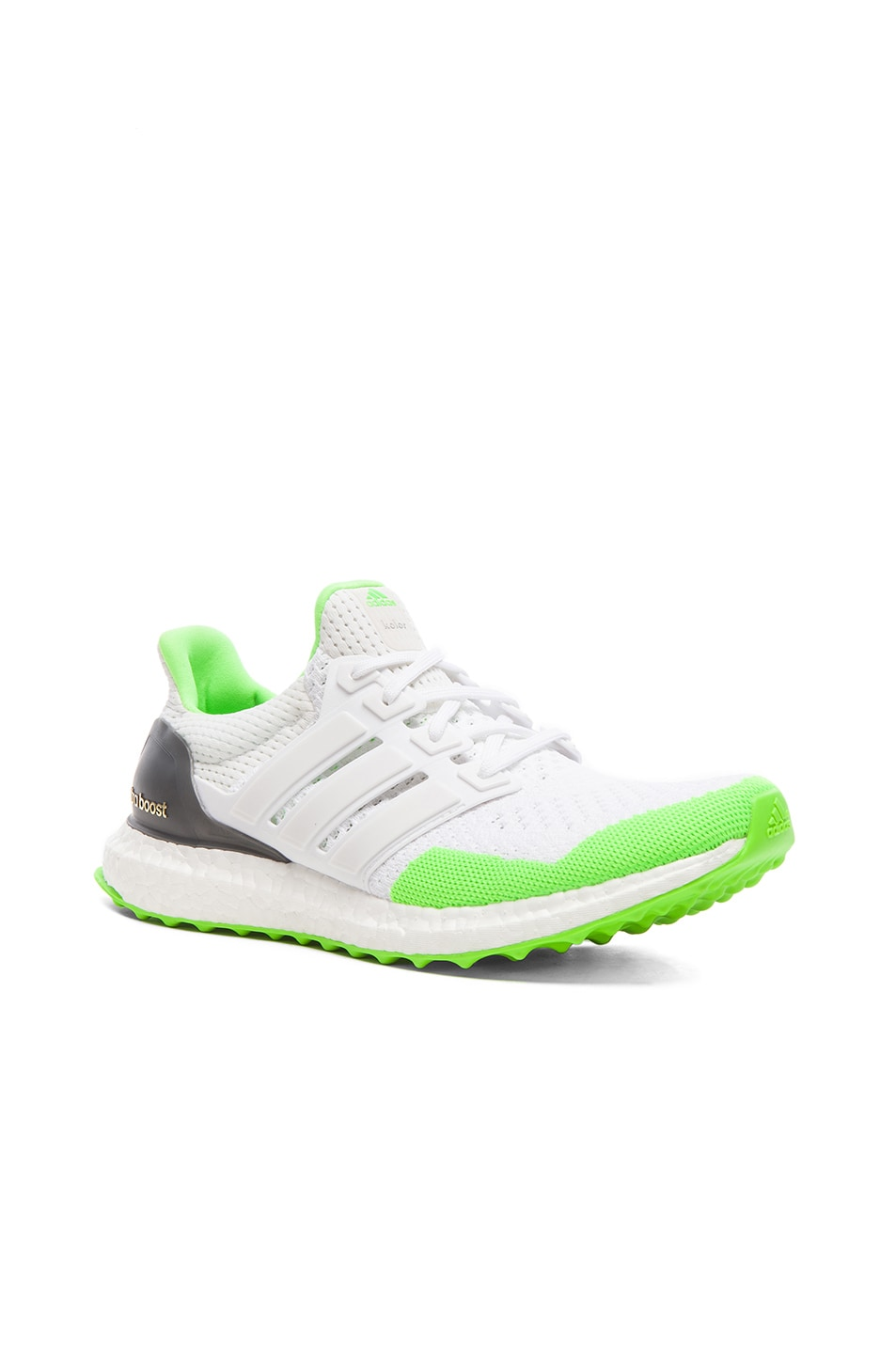 official photos a1ce8 30b47 Image 1 of Adidas x kolor Ultra Boost Shoes in White  Solar Green