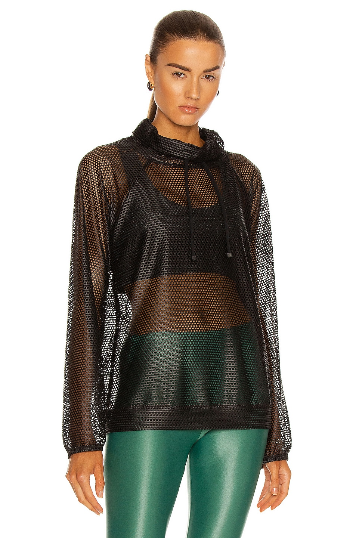 Image 1 of KORAL Probe Open Mesh Pullover Sweatshirt in Black