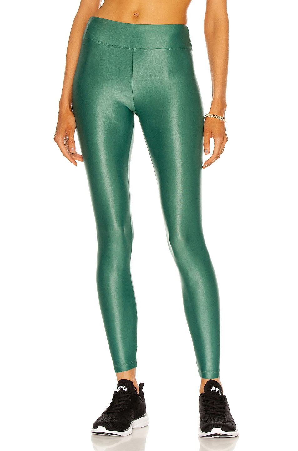 Image 1 of KORAL Lustrous High Rise Infinity Legging in Duffle Green