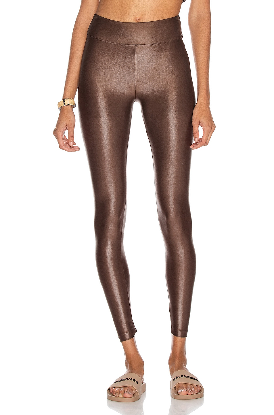 Image 1 of KORAL Lustrous High Rise Infinity Legging in Cafe
