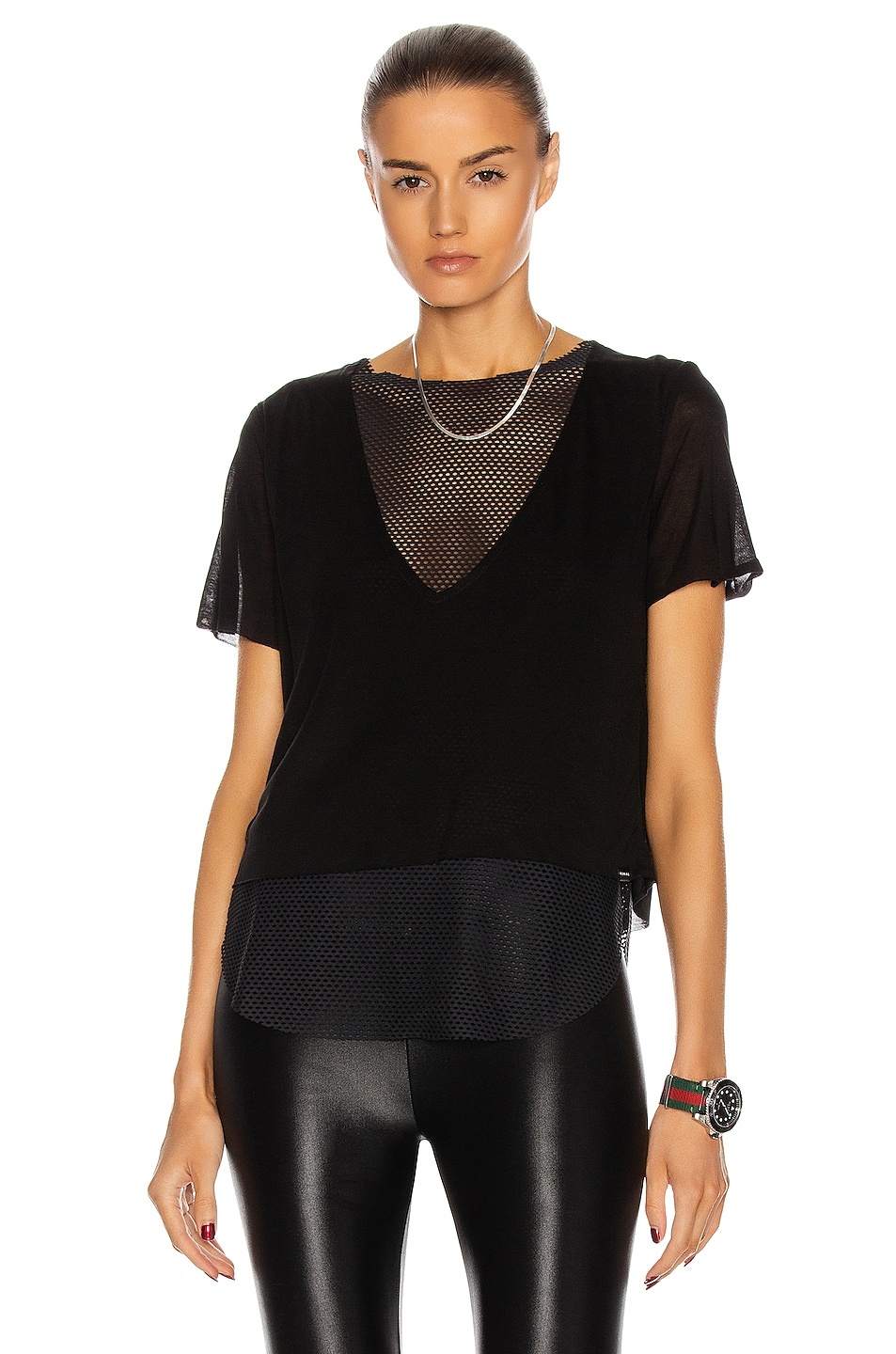 Image 1 of KORAL Double Layer Tee in Black
