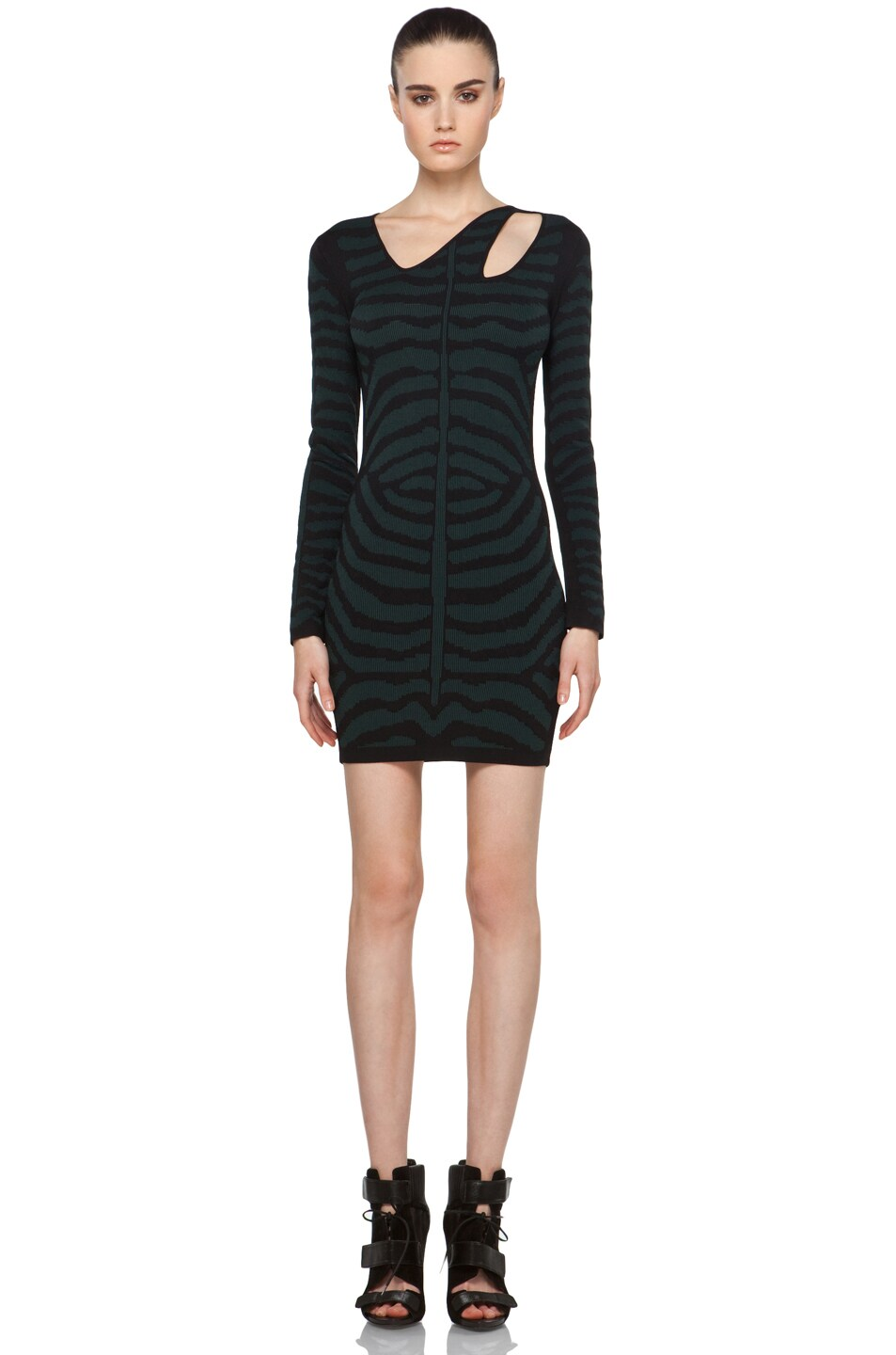 Kimberly Ovitz Alder Dress In Black Algae Fwrd