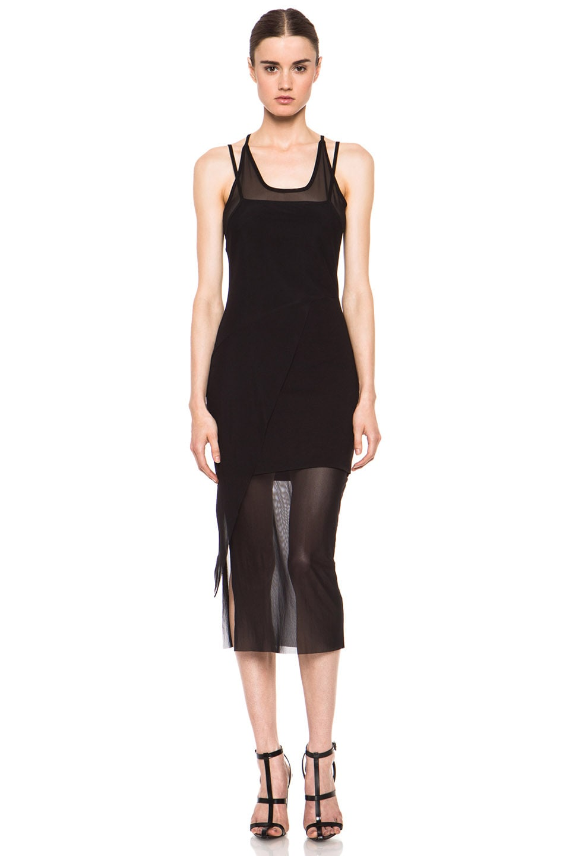Image 1 of Kimberly Ovitz Kimek Polyamide-Blend Dress in Black