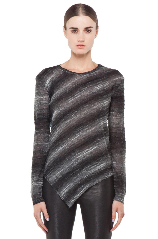 Image 1 of Kimberly Ovitz Vaso Tuck Front Sweater in Onyx