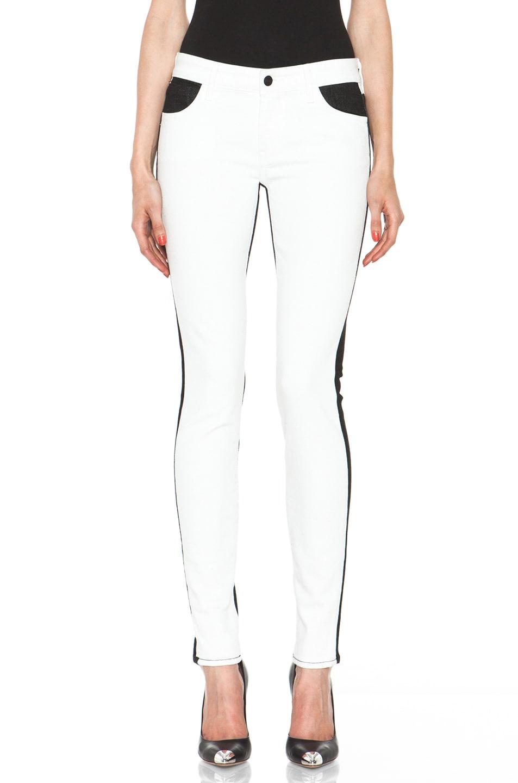 Image 1 of Koral Color Block Skinny in White & Black
