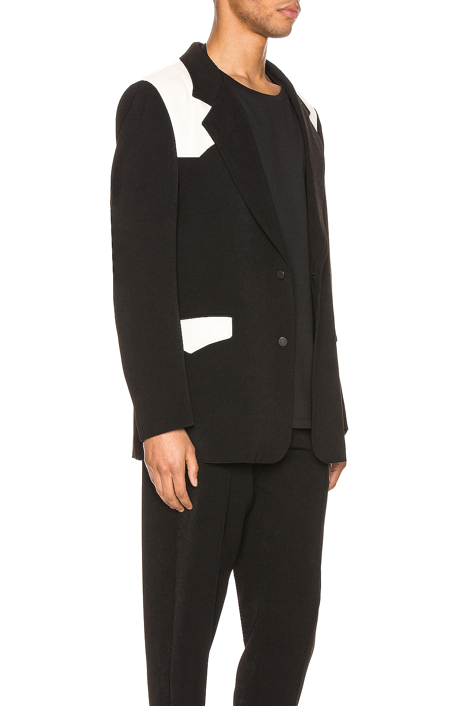 Image 3 of Keiser Clark Western Detective Suit Jacket in Black & White