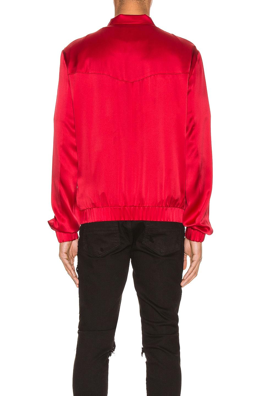 Image 4 of Keiser Clark Silk Bomber Jacket in Blood Red