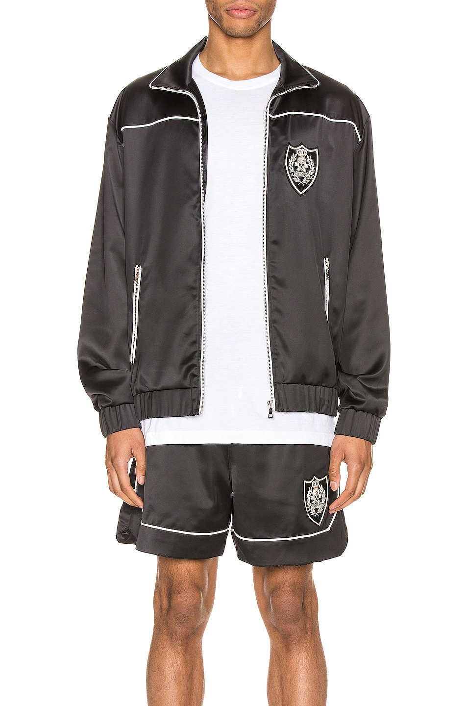 Image 1 of Keiser Clark The Academy Tracksuit Jacket in Black & White
