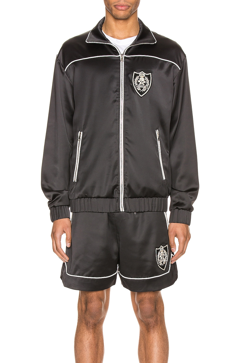 Image 2 of Keiser Clark The Academy Tracksuit Jacket in Black & White