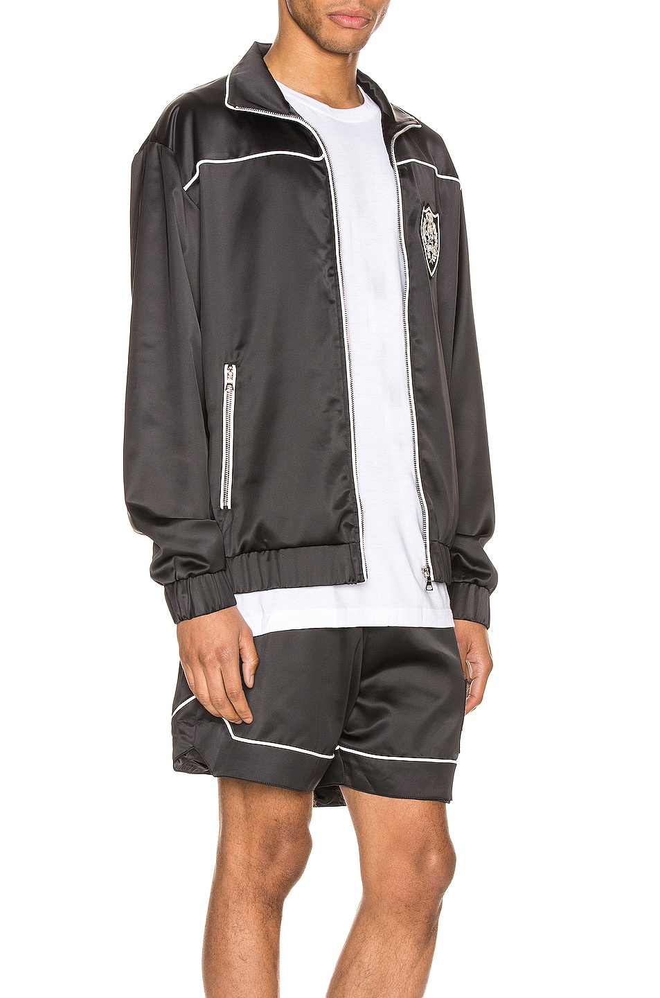 Image 3 of Keiser Clark The Academy Tracksuit Jacket in Black & White