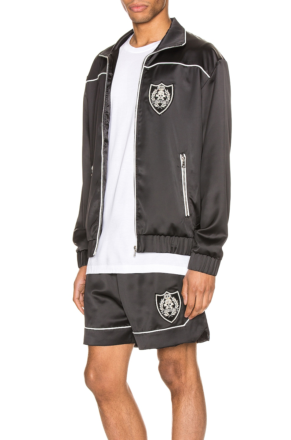 Image 4 of Keiser Clark The Academy Tracksuit Jacket in Black & White