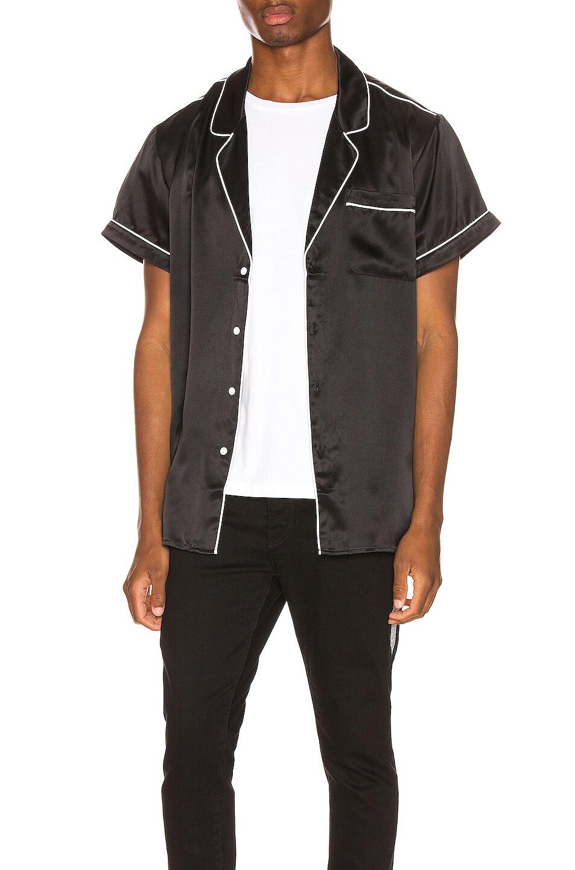 Image 1 of Keiser Clark Silk Pajama Shirt in Black