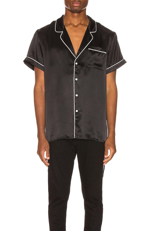 Image 2 of Keiser Clark Silk Pajama Shirt in Black