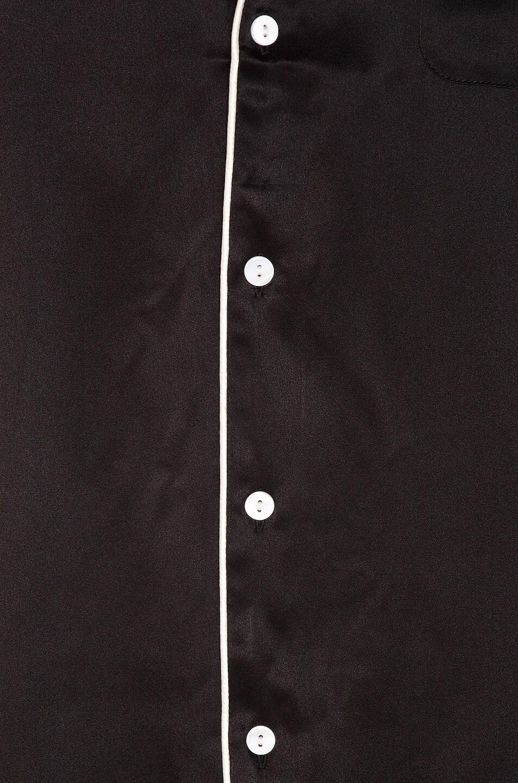 Image 6 of Keiser Clark Silk Pajama Shirt in Black