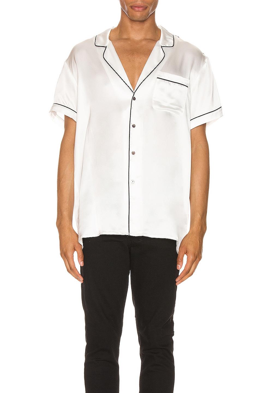 Image 1 of Keiser Clark Silk Pajama Shirt in White