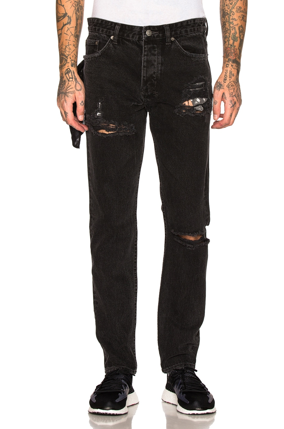 Ksubi Jeans KSUBI WOLF GANG EXPOSED VENOM JEAN IN BLACK