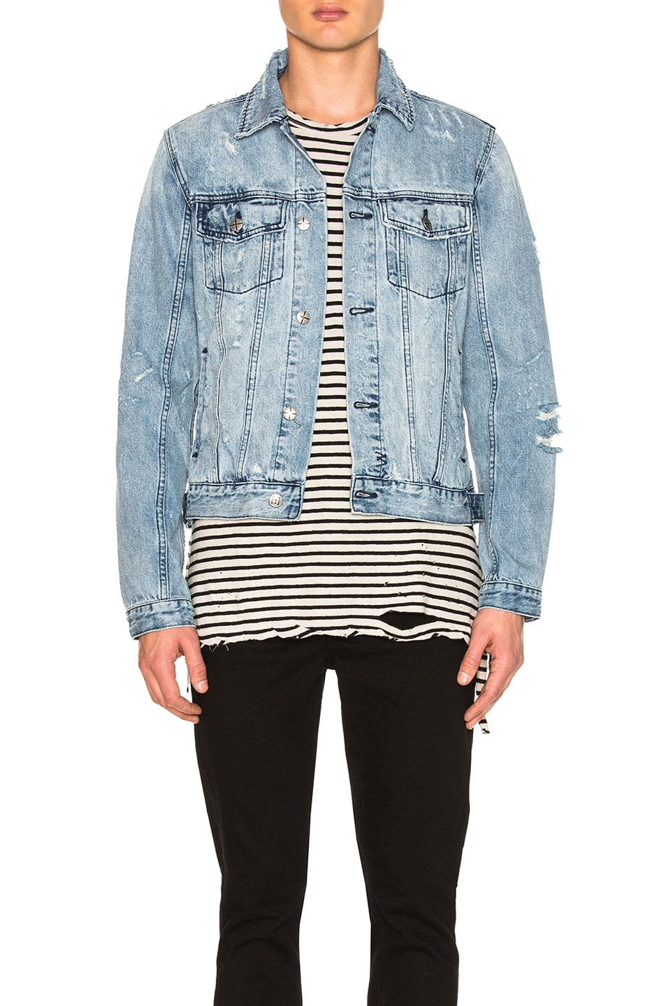 Image 1 of Ksubi Classic Super Smashed Jacket in Denim