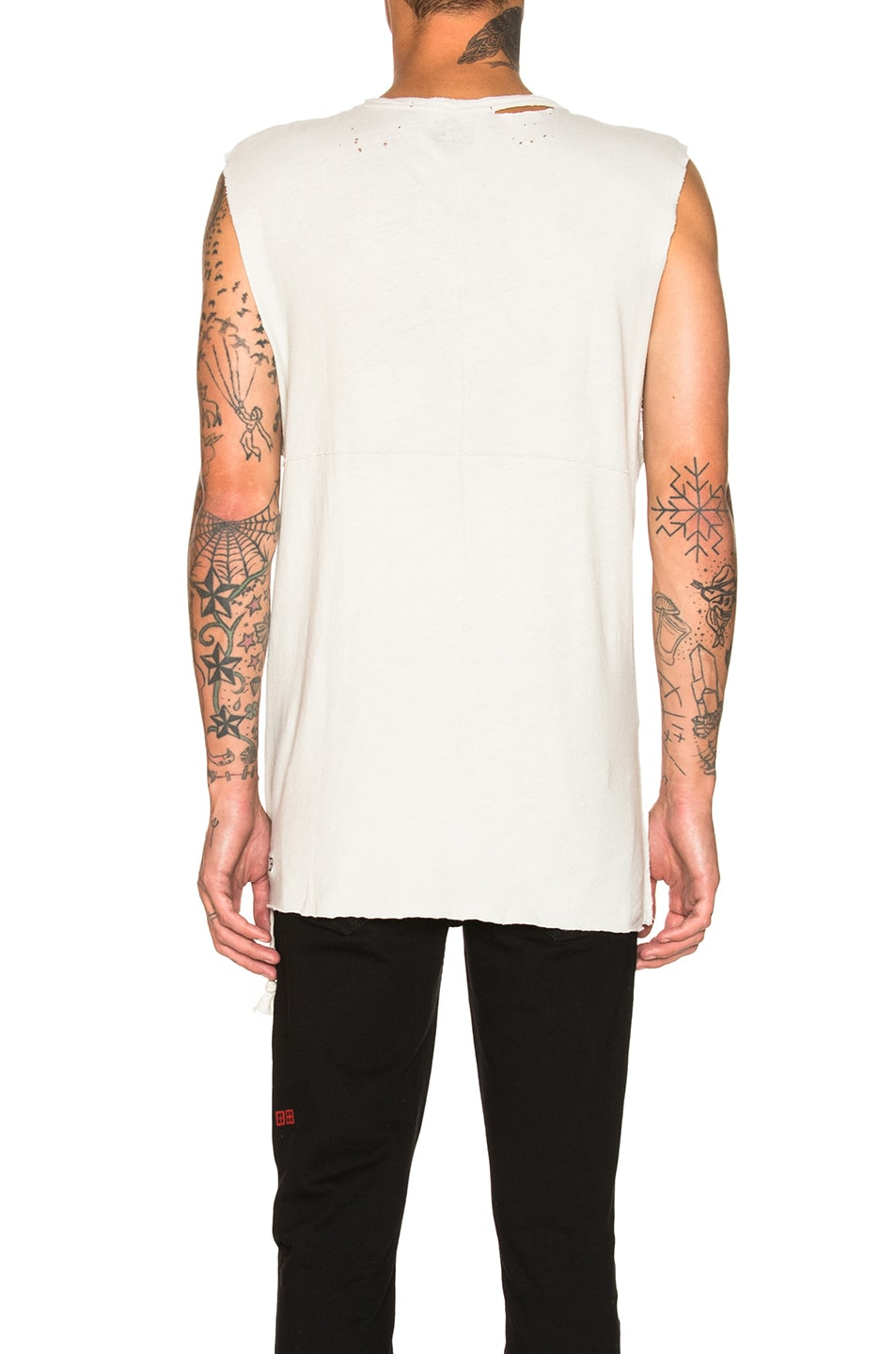Image 4 of Ksubi Utica Chalk Tee in Off White