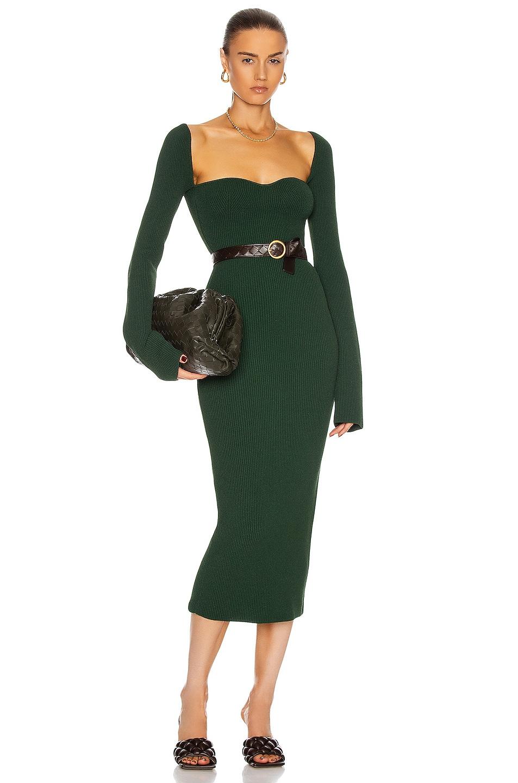 Image 1 of KHAITE Beth Dress in Deep Vert