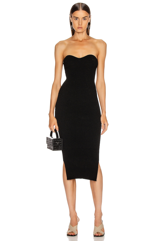 Image 1 of KHAITE Loie Dress in Black