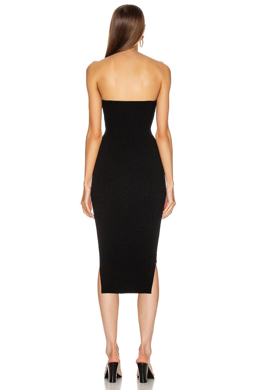 Image 3 of KHAITE Loie Dress in Black