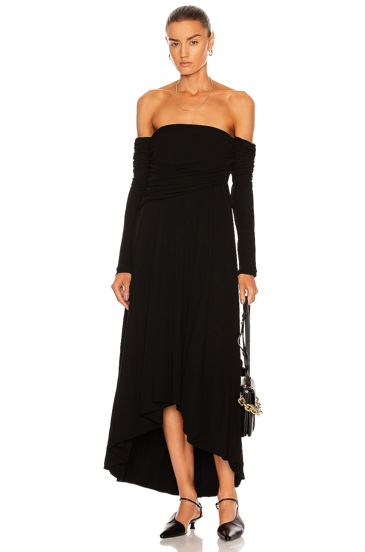 Image 1 of KHAITE Nerissa Dress in Black