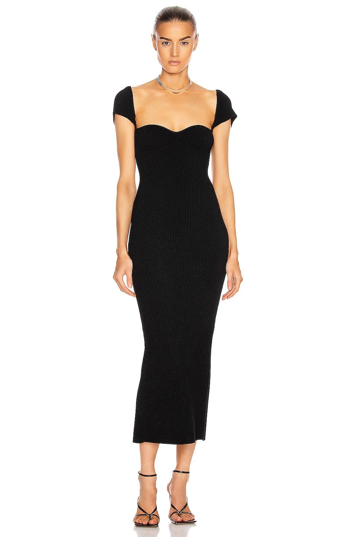 Image 1 of KHAITE Allegra Dress in Black