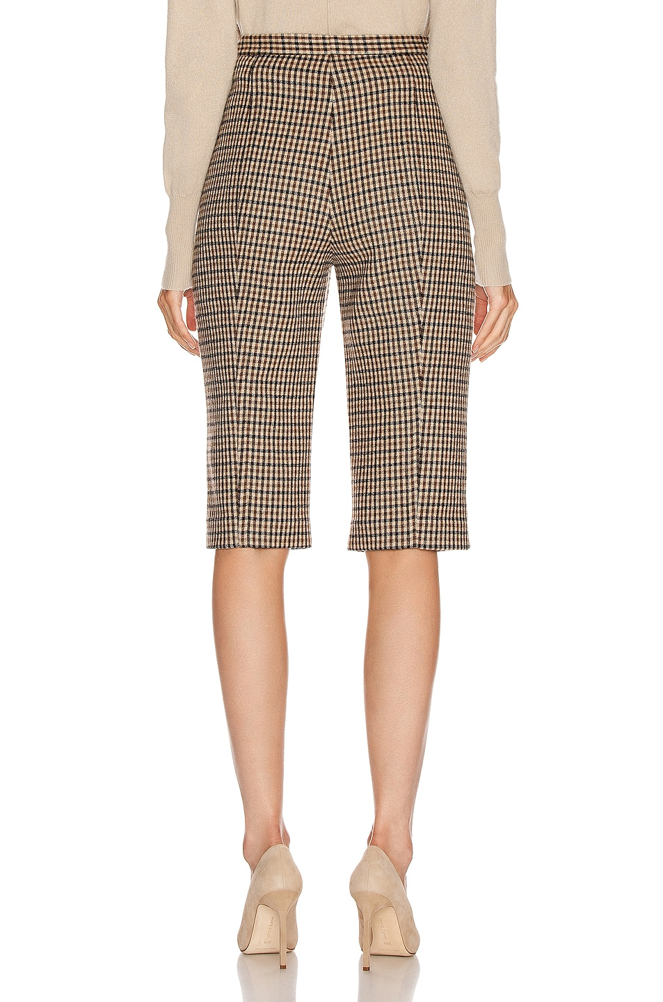Image 3 of KHAITE Ruby Short in Brown Check