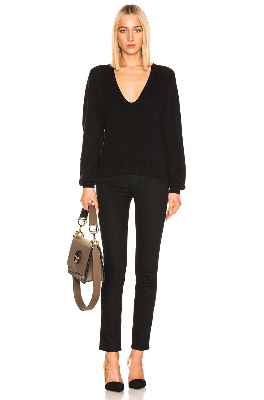 Image 4 of KHAITE Vanessa High Rise Straight Jean in Black