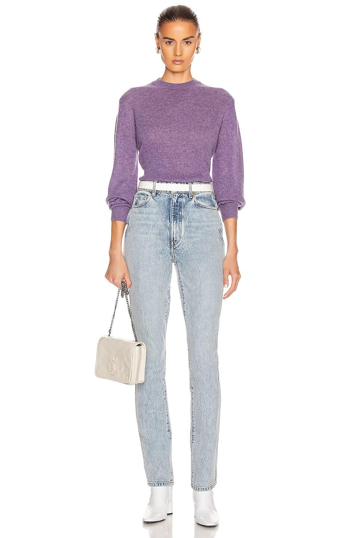 Image 4 of KHAITE Viola Sweater in Amethyst