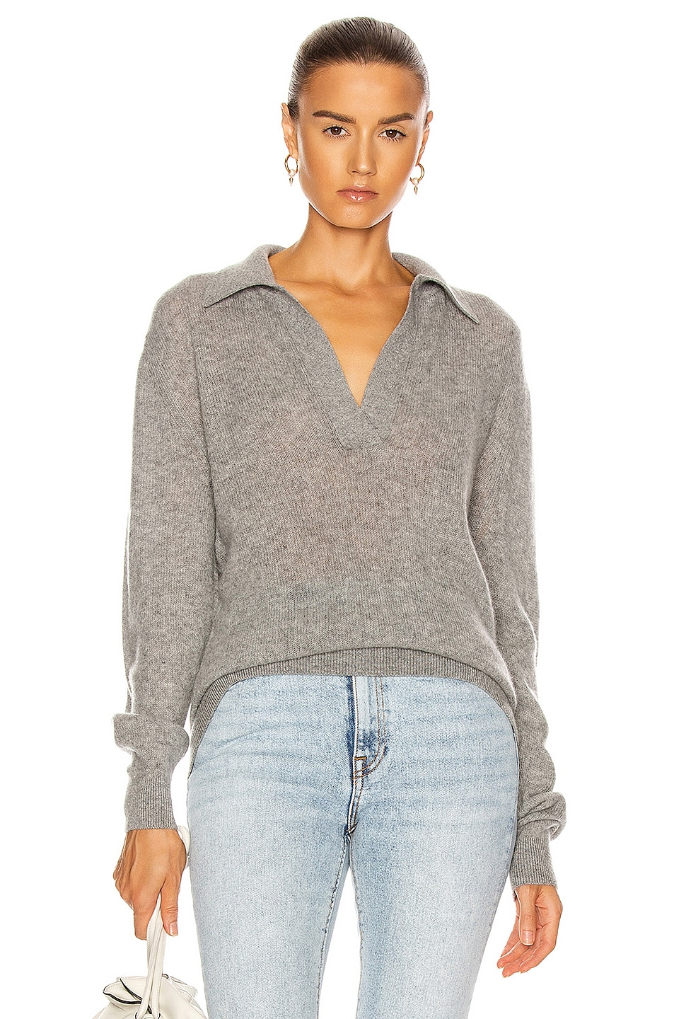 Image 1 of KHAITE Jo Pullover in Warm Grey