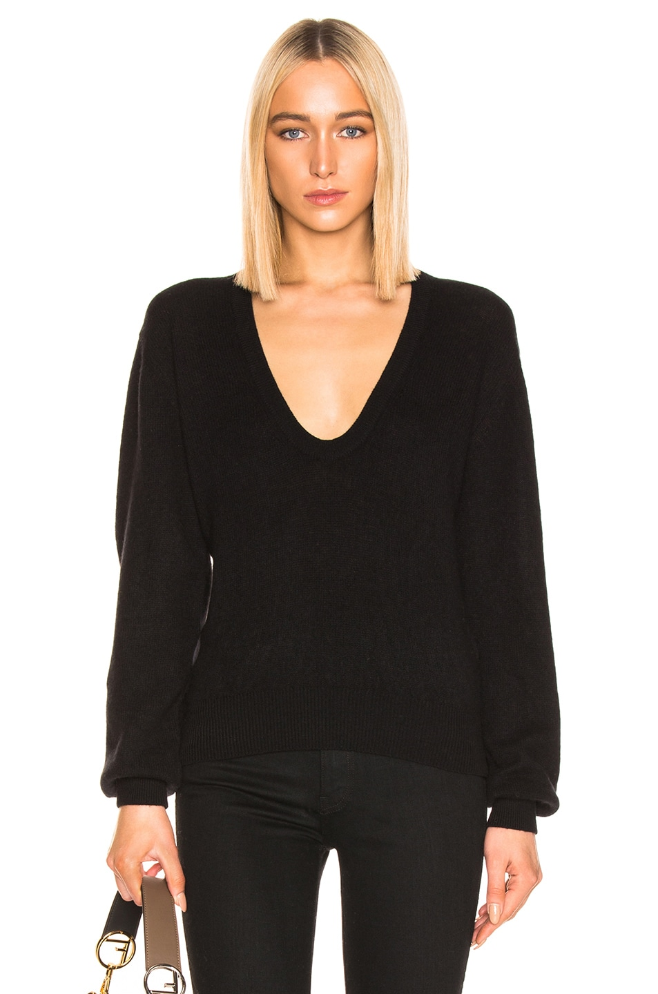 Image 1 of KHAITE Mallory Sweater in Black