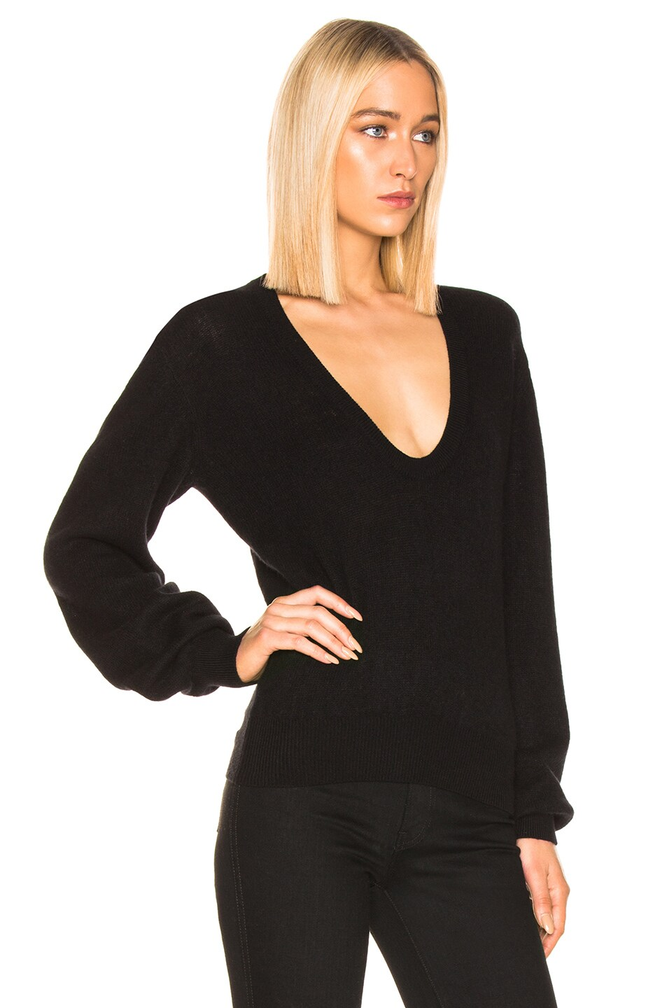 Image 2 of KHAITE Mallory Sweater in Black