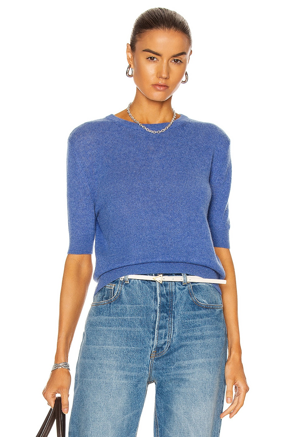 Image 1 of KHAITE Dianna Sweater in Sky Blue