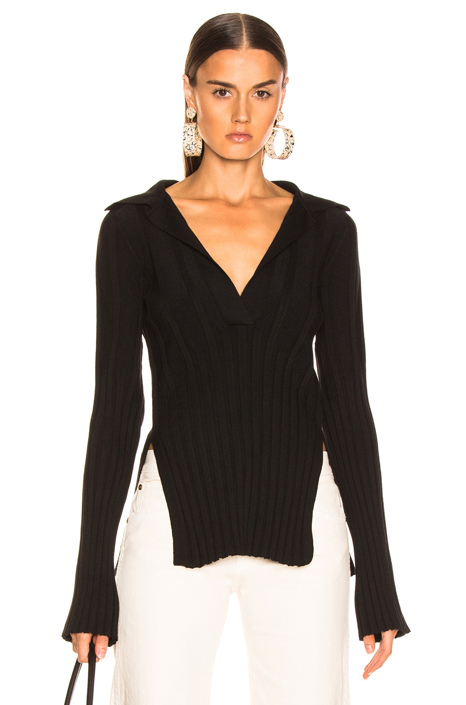Image 1 of KHAITE Sienna Sweater in Black