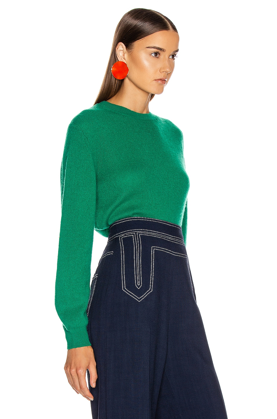 Image 2 of KHAITE Viola Sweater in Kelly Green