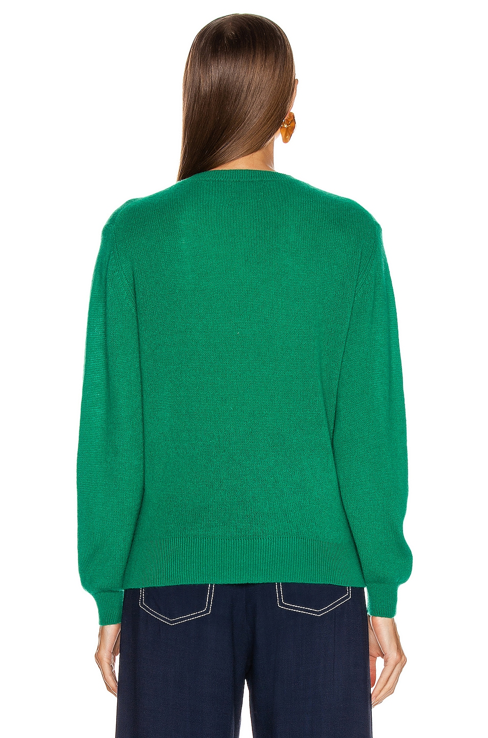 Image 3 of KHAITE Viola Sweater in Kelly Green