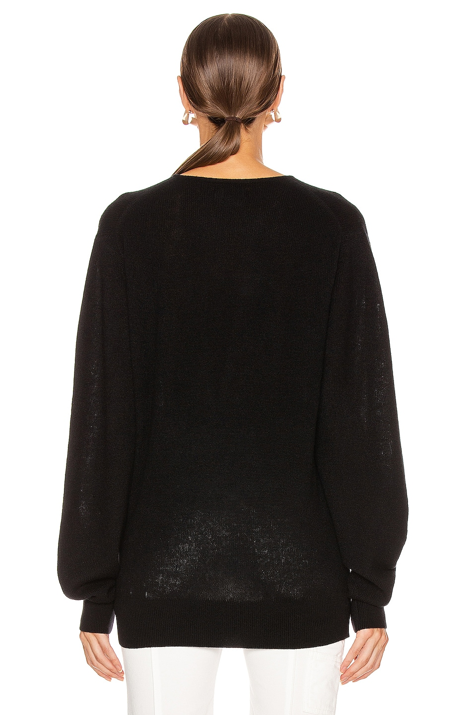 Image 3 of KHAITE Emma Sweater in Black