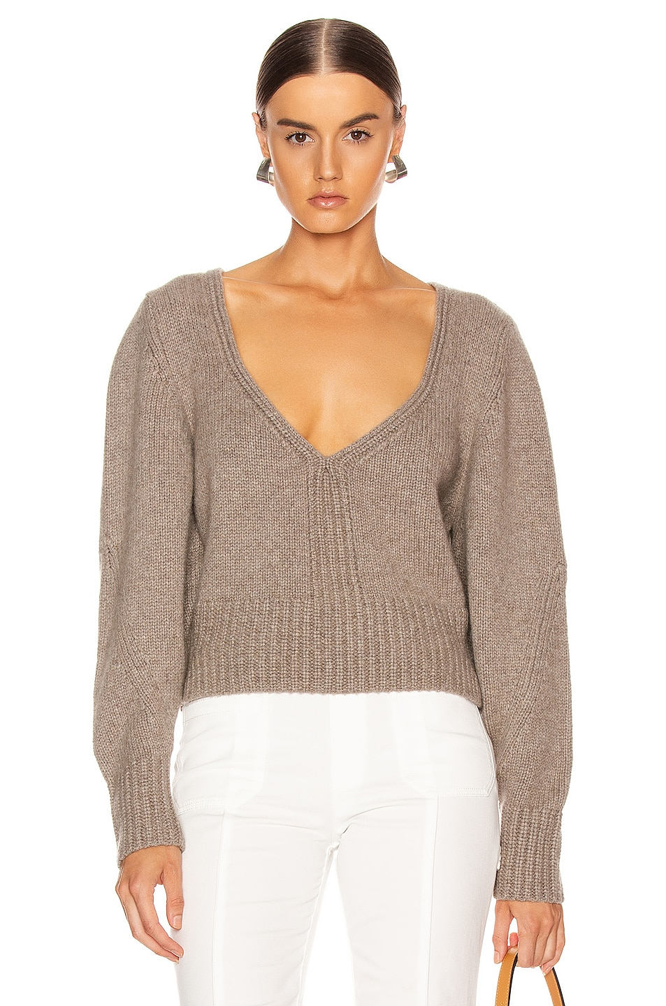 Image 1 of KHAITE Charlette Sweater in Barley