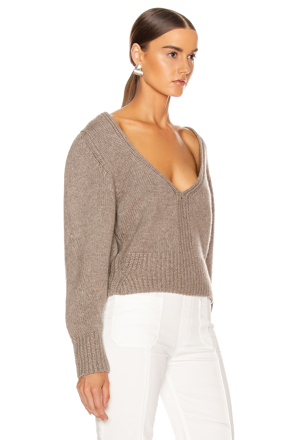 Image 2 of KHAITE Charlette Sweater in Barley